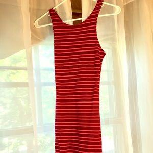 Topshop Striped Body con Mini Dress Size 4